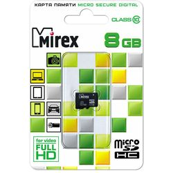 Micro-SD 8 GB Mirex Class10 SDHC без адаптера Карта   памяти