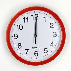 672 Настенные часы La Minor Красные